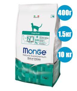 Корм Monge Cat Hairball