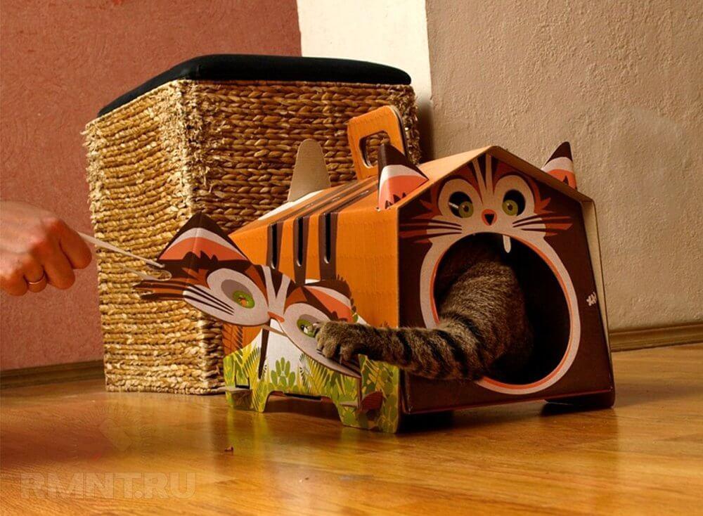 Кошка своими руками из картона 83